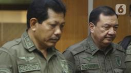 Kepala BIN Budi Gunawan bersiap mengikuti rapat kerja dengan Komisi I DPR di kompleks Parlemen, Senayan, Jakarta, Rabu (12/2/2020). Rapat kerja tertutup ini tersebut membahas isu-isu aktual. (Liputan6.com/Johan Tallo)