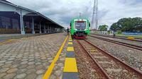 Kereta Bandara Adi Soemarmo, Solo berhenti di Stasiun Klaten (Dok: Kemenhub)