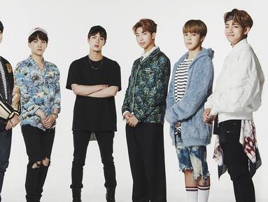 Sudah tak perlu diragukan lagi kepopuleran dari BTS. Pasalnya nama mereka tak hanya terkenal di Korea Selatan saja, nama mereka sudah dikenal sampai luar negeri. (Foto: soompi.com)