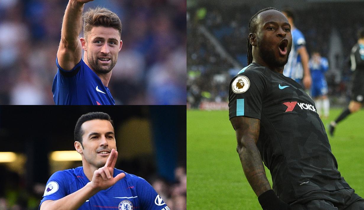 Chelsea masih berada di posisi keempat, namun penampilan Chelsea kerap tidak stabil. Perubahan skuat harus dilakukan Chelsea untuk bersaing di empat besar Premier League enam bulan kedepan dengan menjual beberapa pemain terntunya, (Kolase Foto AFP)