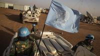 Ilustrasi pasukan penjaga perdamaian PBB (Marco Dormino/AP)