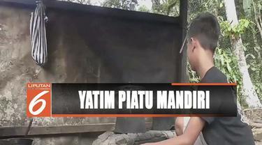 Kakak dan adik di Klungkung, Bali, harus hidup mandiri dengan mencari sayur dan buah untuk dijual.
