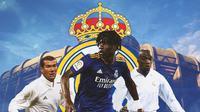 Real Madrid - Zinedine Zidane, Eduardo Camavinga, Claude Makelele (Bola.com/Adreanus Titus)