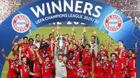Raksasa Bundesliga Bayern Munchen sukses menjadi juara Liga Champions 2019-2020 dengan rekor sempurna. Klub asal Jerman itu selalu menang dari fase grup hingga ke final. (Miguel A. Lopes/Pool via AP)