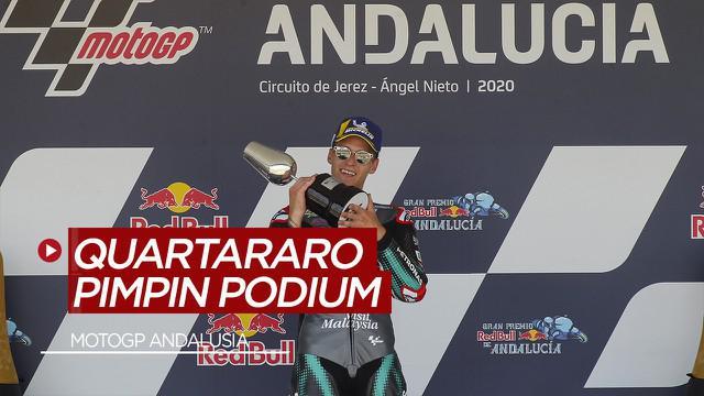 Berita Video Tiga Pembalap Yamaha Kuasai MotoGP Andalusia, Fabio Quartararo Finish Terdepan