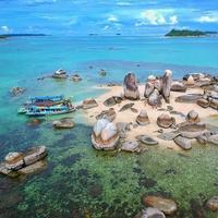 Pantai di Belitung Timur.