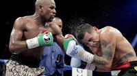 Floyd Mayweather Jr. vs Marcos Maidana (JOHN GURZINSKI / AFP)