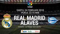 La Liga_Real Madrid Vs Deportivo Alaves (Bola.com/Adreanus Titus)