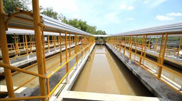 Kementerian PUPR mengembangkan Sistem Pengelolaan Air Minum (SPAM) Kota Bandar Lampung yang akan melayani 300 ribu  jiwa penduduk. (Dok Kementerian PUPR)
