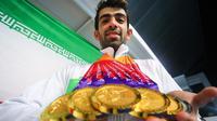 Shahin Izadyar, perenang Iran meraih enam medali emas pada Asian Para Games 2018. (Inapgoc)