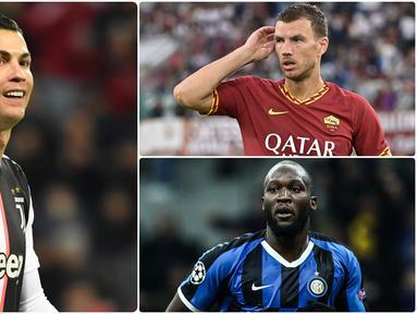 Serie A menjadi ajang para pemain untuk membuktikan diri bahwa mereka mampu menjadi tumpuan klub sebagai mesin pencetak gol. Beberapa striker bahkan mampu tampil sangat mengesankan sejauh ini. Berikut 5 striker top di Serie A musim ini. (Kolase foto AFP)