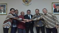 Menteri BUMN Rini Soemarno menetapkan Sunarso, mantan Wakil Direktur Utama BRI menjadi Direktur Utama PT Pegadaian (Persero). (Liputan6.com/Ilyas Istianur P)