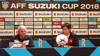 Phil Younghusband dan Sven-Goran Eriksson dalam konferensi pers di Hotel Sultan, Jakarta, Sabtu (24/11/2018). (Bola.com/Zulfirdaus Harahap)
