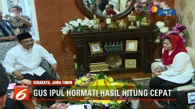 Suka cita kemenangan pasangan Khofifah-Emil sangat terasa di kediaman Khofifah, berdasarkan hasil quick count Pilkada Jatim. Sementara bagi Gus Ipul dan Puti, apa pun hasilnya, warga Jawa Timur sudah memberikan suaranya dan sangat pantas diapresiasi.