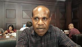 Jemi Kudiai mahasiswa asal Papua di Jakarta
