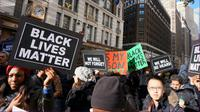 Ilustrasi unjuk rasa Black Lives Matter. (Sumber Wikimedia Commons)