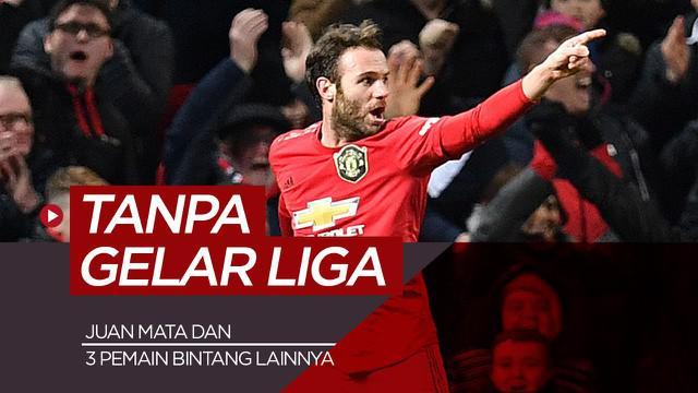 Berita motion grafis 4 bintang sepak bola yang belum raih gelar liga, ada Juan Mata dan mantan rekan di Chelsea.