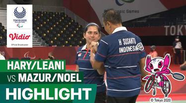 Berita video highlights perjuangan pasangan dari Indonesia, Hary Susanto / Leani Ratri Oktila, pada laga final bulutangkis ganda campuran kategori SL3-SU5 melawan wakil dari Prancis, Minggu (5/9/2021) siang hari WIB.