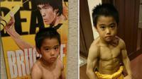 Walau baru berusia 7 tahun, Ryuji sudah mampu menyamai kecepatan dan gerakan legenda Kung Fu, Bruce Lee secara presisi. (Sumber: Instagram/Ryusei2010)