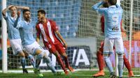 Striker Celta Vigo, Iago Aspas menyesali kegagalanya memaksimalkan peluang di gawang Sevilla. Celta harus bermain imbang 2-2 melawan Sevilla di le kedua Copa Del Rey, Jumat (12/2/2016) dinihari WIB /AFP