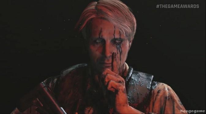 Salah satu adegan Death Stranding memperlihatkan karakter yang diperankan Mads Mikkelsen. Sumber: YouTube