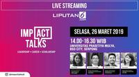 Live Streaming Impact Talks 26 Maret 2019.