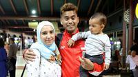 Tontowi Ahmad selalu mendapat dukungan dari sang istri, Michelle Harminc, saat berlaga pada ajang Olimpiade Rio de Janeiro 2016. (PBSI)