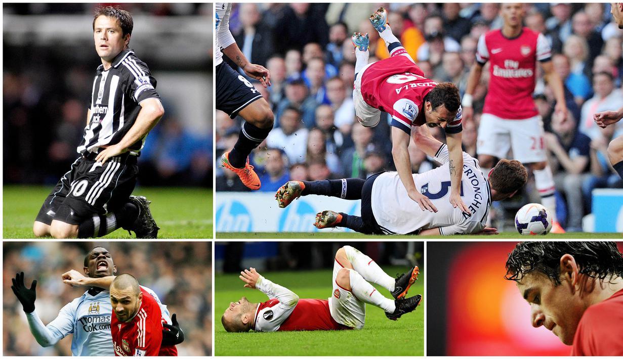 Cedera merupakan momok mengerikan bagi semua pesepakbola. Karier bagus yang sudah lama dibangun bisa hancur berantakan ketika si pemain mengalaminya. Berikut lima pemain Liga Inggris yang kariernya rusak karena cedera.