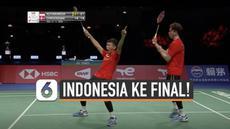 Tim Indonesia sukses melaju ke babak final badminton Piala Thomas usai kalahkan tim Denmark Sabtu (16/10) malam di Ceres Arena. Indonesia tumbangkan Denmark dengan skor 3-1.