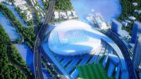 Pembangunan stadion sepakbola berstandar internasional di eks Taman BMW, Tanjung Priok, Jakarta Utara, dimulai Oktober 2018. (Liputan6.com/Delvira Chaerani Hutabarat)