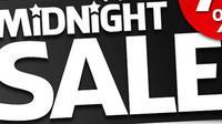 Menjelang lebaran, sejumlah pusat perbelanjaan menggelar promo terakhir belanja tengah malam dengan diskon besar-besaran.