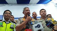 Kepala Badan Pemelihara Keamanan (Kabaharkam) Polri Komjen Pol Condro Kirono di Pelabuhan Merak, Kota Cilegon, Banten, Minggu (9/6/2019). (Liputan6.com/Yandhi Deslatama)