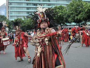 Tarian Kabasaran di Car Free Day