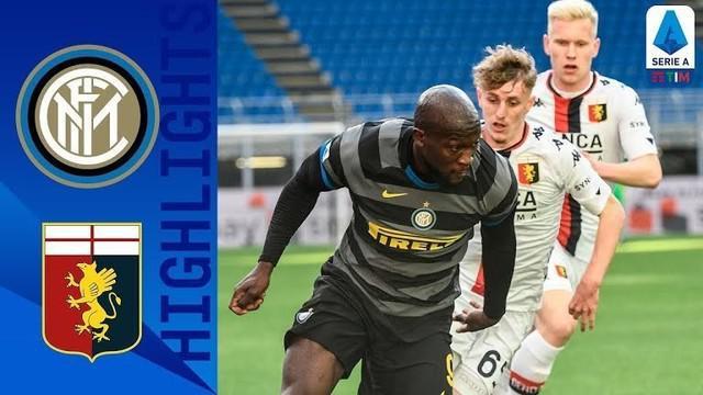 Berita Video Highlights Italia, Gol Cepat Romelu Lukaku Bawa Inter Milan Menang 3-0 atas Genoa (28/2/2021)