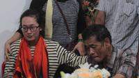 Duka keluarga korban gempa Palu di Medan (Liputan6.com/Reza Perdana)