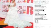 Intip parade gaun terbaik dari Rita Ora hingga Dua Lipa di Brit Award 2018. (Foto: instagram.com/@justjared)