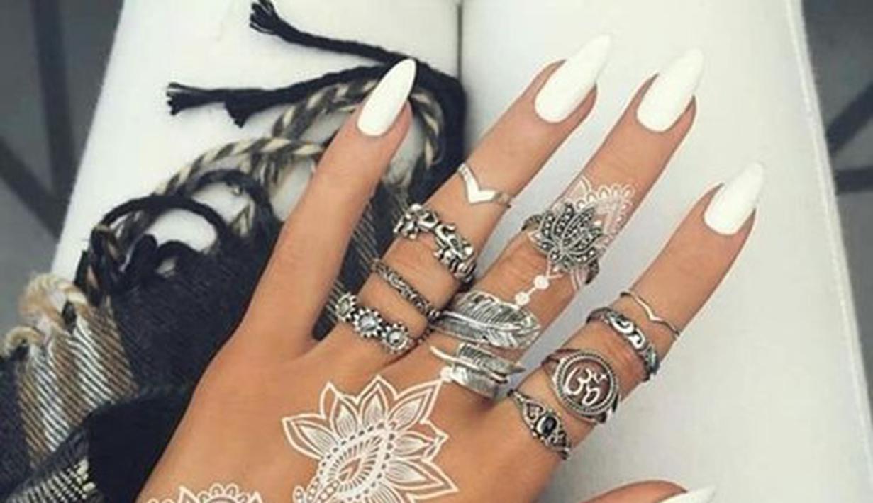 Inspirasi Henna Putih Bikin Kamu Makin Cantik Di Hari Pernikahan