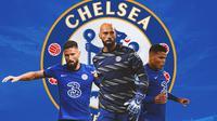 Chelsea - Olivier Giroud, Willy Caballero, Thiago Silva (Bola.com/Adreanus Titus)