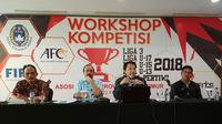 Asprov PSSI Jatim melakukan sosialisasi Liga 3 dan kompetisi lain pada tahun 2018. (Bola.com/Zaidan Nazarul)