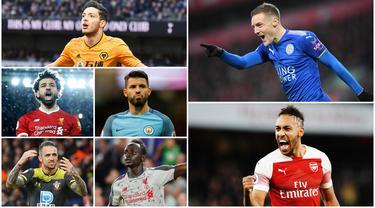 Berikut ini daftar top skor sementara Premier League. Jammy Vardy berada di puncak dengan koleksi 19 gol sementara Aubameyang menempati posisi ke dua dengan catatan 17 gol.