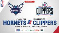 Jadwal NBA, Charlote Hornets Vs LA Clippers. (Bola.com/Dody Iryawan)