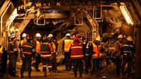 Karyawan Freeport di tambang bawah tanah. (Dok: Liputan6.com)