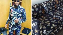 Sepintas, corak baju N'Zogbia mirip dengan kulit sofa.