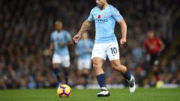 1. Sergio Agüero (Manchester City) - 8 gol dan 4 assist (AFP/Oli Scarff)