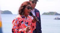Menteri Kelautan dan Perikanan Susi Pudjiastuti meninjau lokasi Festival Pulo Dua di Pulo Dua, Kecamatan Balantak, Kabupaten Banggai, Sulawesi Tengah. (Dok KKP)
