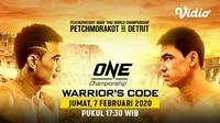 Saksikan Live Streaming One Championship Warrior's Code. sumberfoto: Vidio