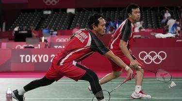 Foto: Hendra Setiawan/Mohammad Ahsan Menutup Hegemoni Tim Bulu Tangkis Indonesia di Hari Pertama Olimpiade Tokyo 2020