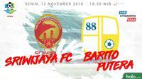 Liga 1 2018 Sriwijaya FC Vs Barito Putera (Bola.com/Adreanus Titus)