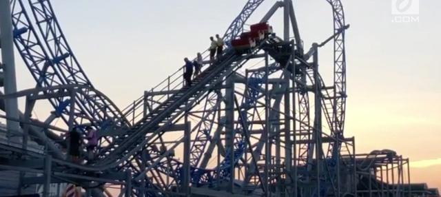 Pemadaman listrik terjadi pada taman bermain di Ocean City, New Jersey. Semua permainan pun harus terhenti, salah satunya roller coaster.