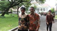 Manajer Persib Bandung, Umuh Muchtar saat bersama Klub-klub sepak bola Indonesia bertemu Presiden RI, Joko Widodo di Istana Negara, Jumat (16/4/2016). (Nicklas Hanoatubun)